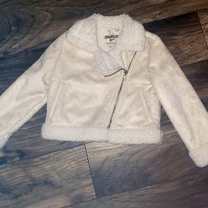 Kids faux fur Oshkosh biker jacket